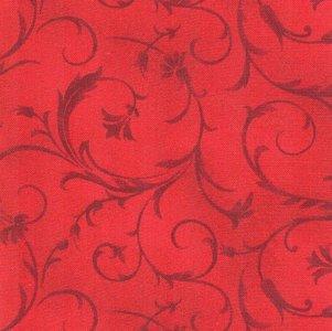 MASQB100-R Beautiful Backing  rood met slingers 275 cm breed