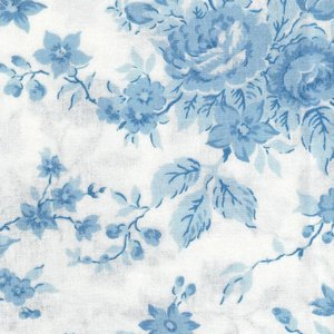 2987-13 Bunny Hill light blue flowers