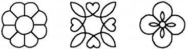 Quilt sjabloon W-1334 3 inch / Blocks