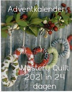 Adventkalender 2021 : Red Barn Christmas winter Quilt