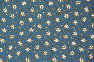 R33-0158-0110 25th Anniversary blauw met oranje ecru motiefje