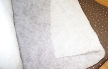 Tussenvulling 100% polyester dun 60 gram