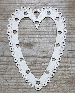 TBCC2 Mini Heart Frame hout cream