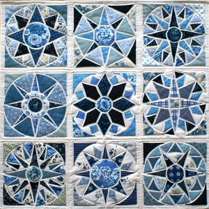 Dutch Tile Quilt patroon