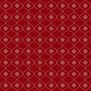 160202 Vintage Wallpaper Ruby Red
