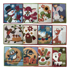 BVM Little Quilts, squared, by the Wooden Bear