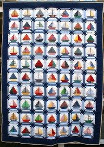 Patroon Zeilbootjesquilt