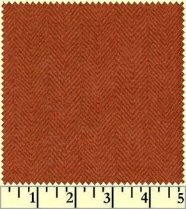 F1841-M woolies flanel visgraat donkeroranje
