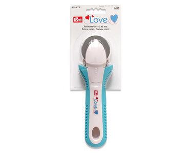 610473 Prym Omnigrid 45 mm rolmes wit/blauw love