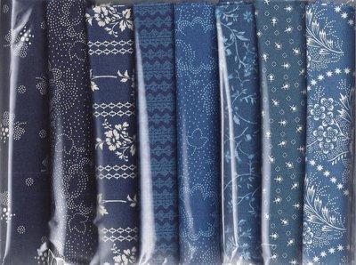 8xFat8 Pack Donker en Medium blauw