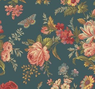 8985-T Bed of Roses Teal