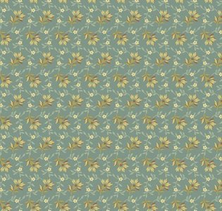 8618-T Bed of Roses Lazy day dusty Teal