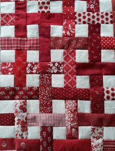 Startpakketje Schering en Inslag Quilt Rood