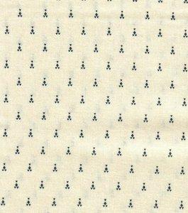 4512-619 Nellies shirtings ecru met blauw
