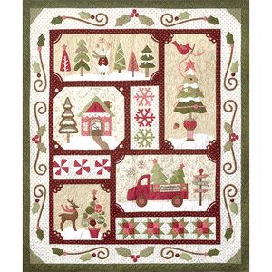 Totaal Quiltpakket Sew Merry Rood